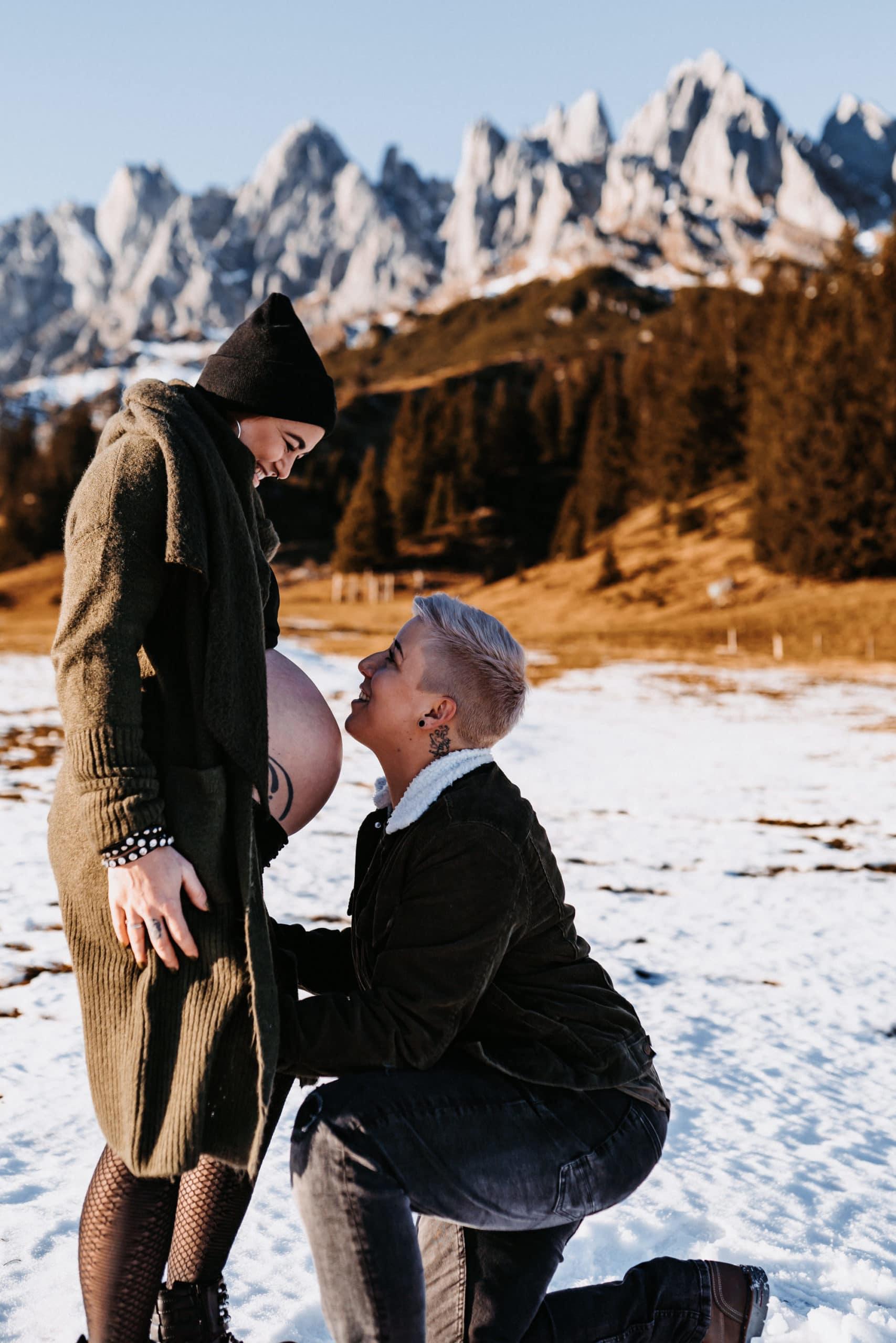 Babybauch-Paarshooting-Hochkönig-Salzburg-Babybauchshooting